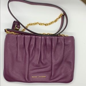 Marc Jacobs Ruched leather crossbody bag